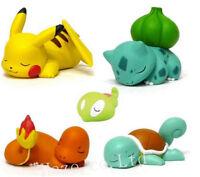 5pcs/Set Pocket Monster Pokemon Nendoroid PVC Figure Toy 3-5cm