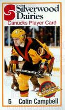 1981-82 Vancouver Canucks SilverWood Dairies #9 Colin Campbell