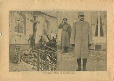 WWI Ruine Église de Vaux-sous-Laon Aisne/Général Olivier Mazel 1917 ILLUSTRATION