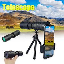 4K 10-300X40mm Super Telephoto Zoom Monocular Telescope Tools With Tripod & Clip