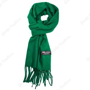 New SOLID 100%CASHMERE winter SCARF High Quality MADE IN SCOTLAND SOFT unisex