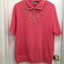 Blast, ladies Golf Shirt, Size L, Beautiful Coral Color, Short Sleeves, VGUC