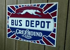 Greyhound bus company depot sign ...large 18 inches wide