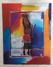 MICHAEL JORDAN Lithograph - PETER MAX with Remarque!  UDA / PSA-DNA - #111/123