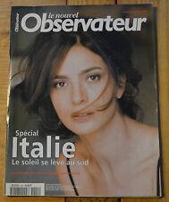 Le Nouvel Observateur spécial Italie, couverture laura Morante, 50 pages...