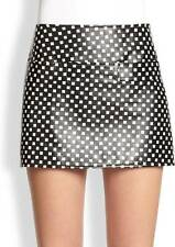 Marc Jacobs Black White Block Print Leather Mini Skirt $498 NWT 0