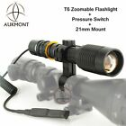 CREE LED XML T6 Zoomable Scope Mount Light Lamp Hunting Gun Air Rifle Torch Kit