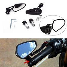 "Black Motorcycle Billet Aluminum 7/8"" 22 Bar End Side Rearview Mirrors Practical"