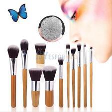 Pro Makeup Cosmetic Blush Brush Eyebrow Foundation Powder Kabuki Brushes Kit Set