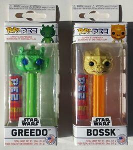 ☆ Funko POP Pez STAR WARS Bounty Hunters Series 1 GREEDO & BOSSK New In Package