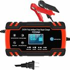 Car Battery Charger 12V/8A 24V/4A Automatic Smart Battery Charger Maintainer