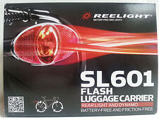 New Reelight SL601 flash luggage carrier rear bike bicycle light & dynamo