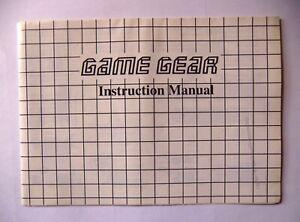 48683 Instruction Booklet - Sega Game Gear Manual - Sega Game Gear (1991)