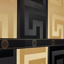 Versace Grand fond D'écran Grec Key Noir (93523-4)