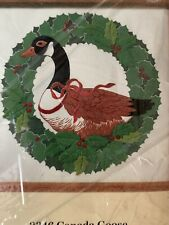 Canada Goose and Wreath Vintage Quilted Embroidery Kit Creative Circle Sealed