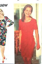 SIMPLICITY SEWING PATTERN #8417 EASY TO SEW MISSES SLIM DRESS SIZE 10-14