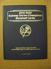 NEW YORK YANKEES SUBWAY SERIES CHAMPIONS DANBURY MINT 22KT GOLD 8 CARD BOOKLET