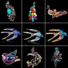 Fashion Animal Bird Peacock Swallow Beauty Brooch Pin Jewelry Women Lady Gift