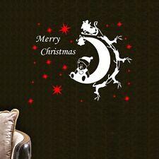 Merry Xmas Christmas Reindeer Star Wall Art Sticker Vinyl Decal Decor Kids DIY