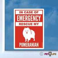 In Case of Emergency Rescue My Pom Sticker Die Cut Vinyl - Pomeranian Pompom