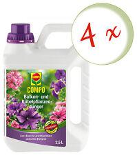 Sparset: 4 x COMPO Balkon- und Kübelpflanzendünger, 2,5 Liter