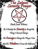 Satanic Serenity Prayer New Age Occult Goth Pagan Pentagram Magic Devil Soul
