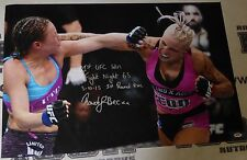 Rowdy Bec Rawlings Signed 20x30 Photo PSA/DNA COA 1st UFC Win Fight Night 65 '15