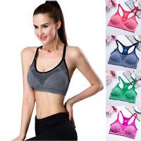Women's Sport Bra Running Gym Yoga Fitness Padded Tank Stretch Workout Underwear