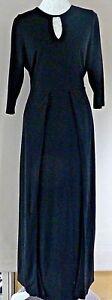 Ladies Anna Scholz 3/4 Sleeve Black Evening Dress- UK Size 14 -NEW