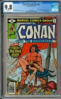 Conan the Barbarian #100 CGC 9.8 White Death of Belit John Buscema