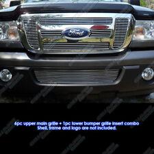 Fits 2006-2011 Ford Ranger FX4/XL/XLT Billet Grille Combo
