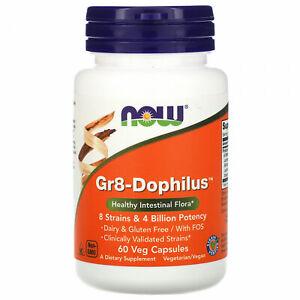 Now Foods, Gr8-Dophilus, 60 Veg Capsules Healthy Intestinal Flora