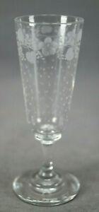 Set of 10 St Louis Saint Louis Engraved Floral & Dots Cordial Glasses Circa 1890