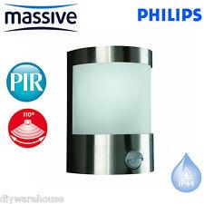 PHILIPS MASSIVE VILNIUS C/W PIR SENSOR MOVEMENT OUTSIDE LIGHT LANTERN MODERN