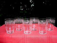 BACCARAT CYGNE WINE GLASSES GOBELETS A VIN CHAMPAGNE CRISTAL GRAVÉ EMPIRE 19ÈME