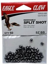 Split Shot Sinkers, Size BB, Removable, FOUR Packs of 60=240  #02010-001 (SS-BB)