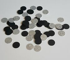 200 Elegant Glitter Wedding Engagement Round Love Party Table Confetti Silver