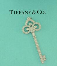 Tiffany & Co. Fleur de Lis Diamond Key Pendant in Platinum from Key Collection