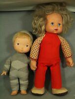 lot 2 vintage baby dolls Hasbro 1975 Walking Baby Loves You American greeting