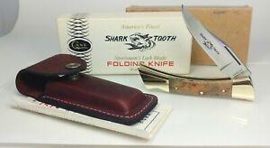 Case 1982 Shark Tooth Curling Maple Lock Blade 7197 Hunter Sportsmen Knife