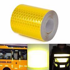 5m x 50mm Reflexstreifen Reflexfolie Waben Selbstklebend Gelb LKW KFZ PKW