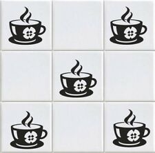 Coffee Cup  Vinyl Tile Transfers Sticker Decal For Kitchen (vd12)