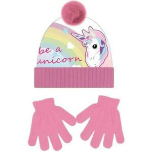Girls Unicorn Hat And Gloves Set