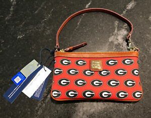 NWT New Dooney & Bourke Georgia Bulldogs Wristlet Wallet Retail $108