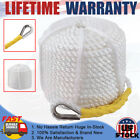"""3/8""""x100' 6250LBS Twisted 3 Strand Nylon Anchor Rope Boat W/Thimble Rigging Line"""