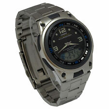 Casio AW82D-1AV Mens Multi-Function Stainless Steel Analog/Digital Fishing Watch