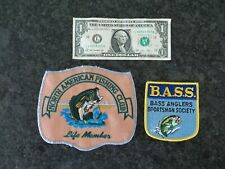 Vintage BASS and NFLCC Fishing Patches