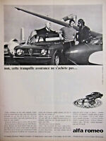 PUBLICITÉ DE PRESSE 1966 ALFA ROMÉO GIULIA GTA COUPÉ 4 PLACES - ADVERTISING