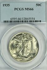 1935 Walking Liberty Half Dollar PCGS MS66  Blazing White