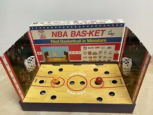 Vintage 1980 - NBA Bas-Ket - Miniature Basketball Board Game  w/ Cadaco BALL!
